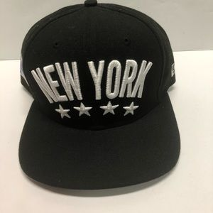 New York new era snapback hat black